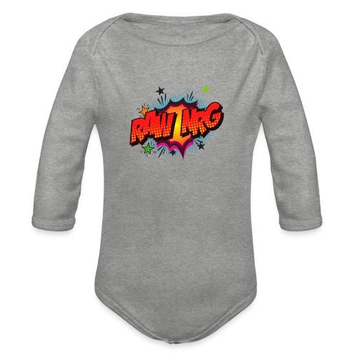 Raw Nrg comic3 - Organic Longsleeve Baby Bodysuit