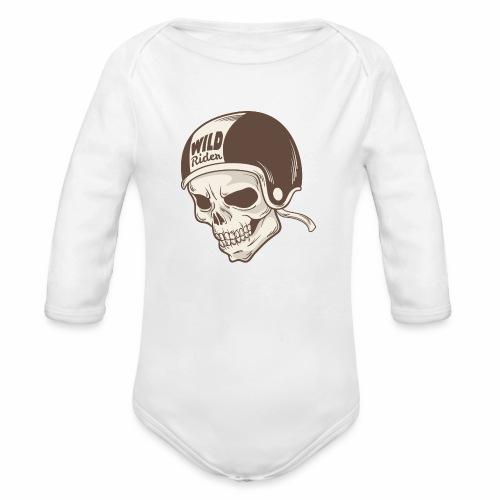 Helmet Skull Wild Rider - Organic Longsleeve Baby Bodysuit