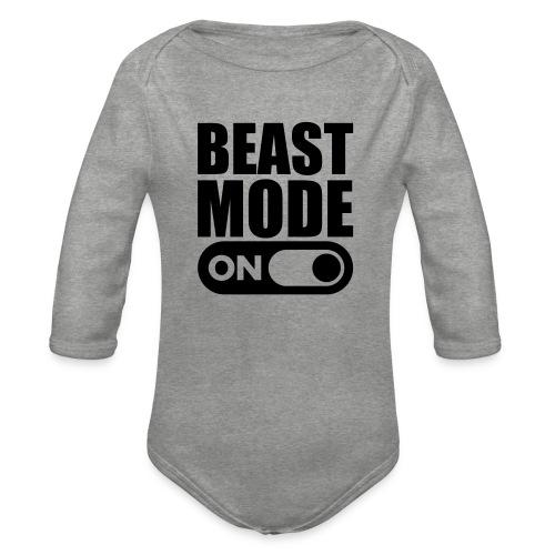 BEAST MODE ON - Organic Longsleeve Baby Bodysuit