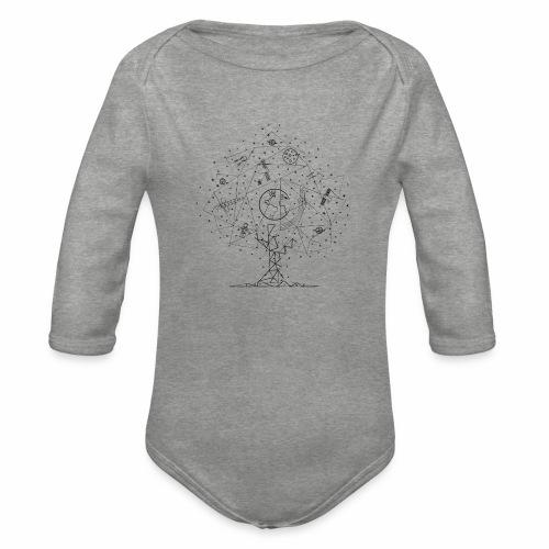 Interpretacja woodspace - Ekologiczne body niemowlęce z długim rękawem