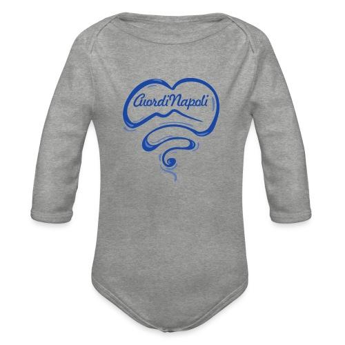 New Logo CuordiNapoli Blu - Body ecologico per neonato a manica lunga