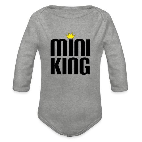 MiniKing Baby Kleinkind Geschenk - Baby Bio-Langarm-Body