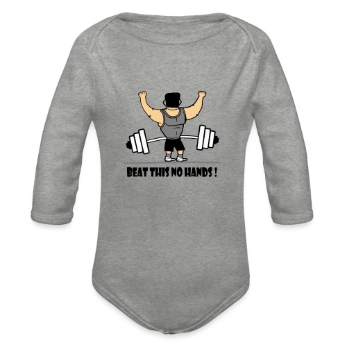 BEAT THIS NO HANDS ! - Organic Longsleeve Baby Bodysuit