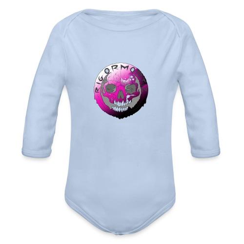 Rigormortiz Purple Design - Organic Longsleeve Baby Bodysuit