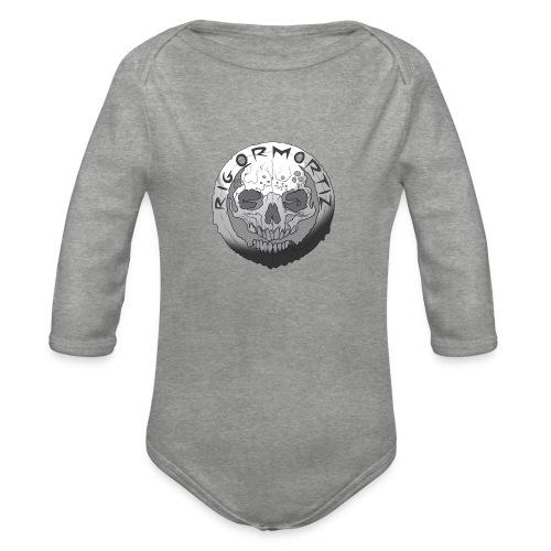 Rigormortiz Black and White Design - Organic Longsleeve Baby Bodysuit