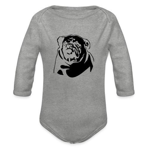 English Bulldog - negative - Vauvan pitkähihainen luomu-body