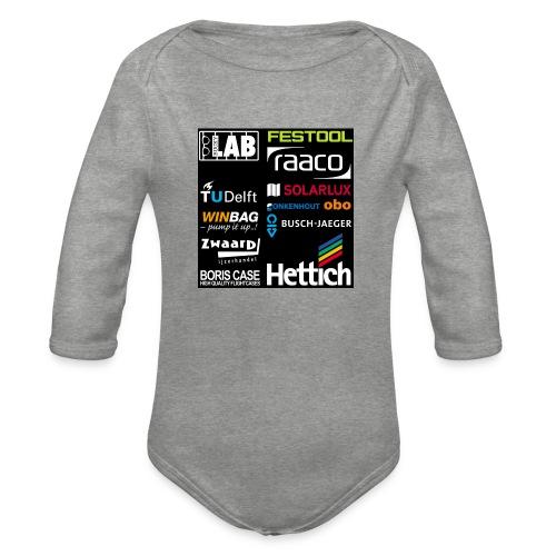 Sponsors back - Organic Longsleeve Baby Bodysuit