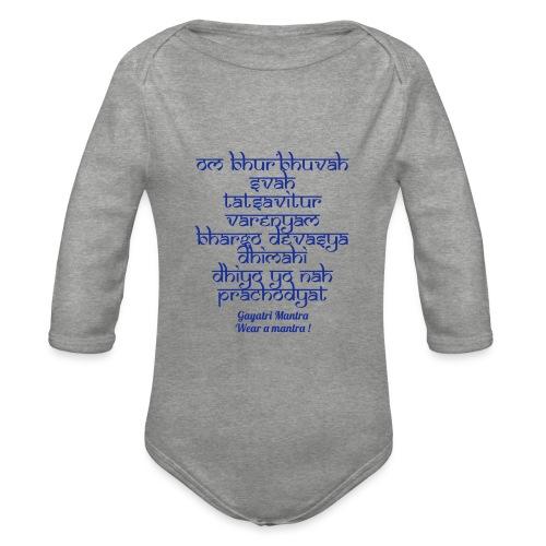 OM Bhur Bhuva Svaha - Body ecologico per neonato a manica lunga