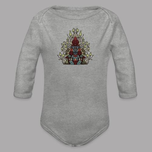 shroomy man - Organic Longsleeve Baby Bodysuit