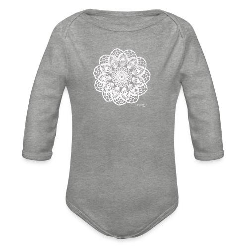 Granny´s Flower, valkoinen - Vauvan pitkähihainen luomu-body