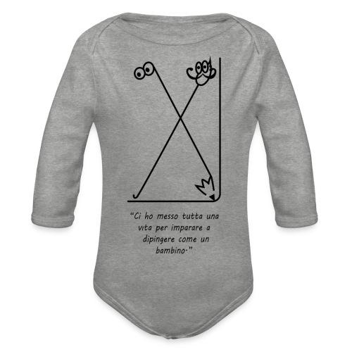 strumenti creativi - Body ecologico per neonato a manica lunga
