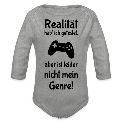 Coole Gamer Nerd Sprüche Zocken Realität - Baby Bio-Langarm-Body