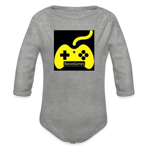 BassoGames Logi - Organic Longsleeve Baby Bodysuit