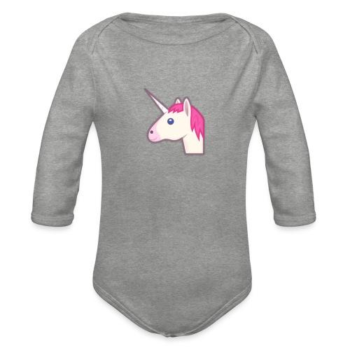 unicorn print shirts - Langærmet babybody, økologisk bomuld