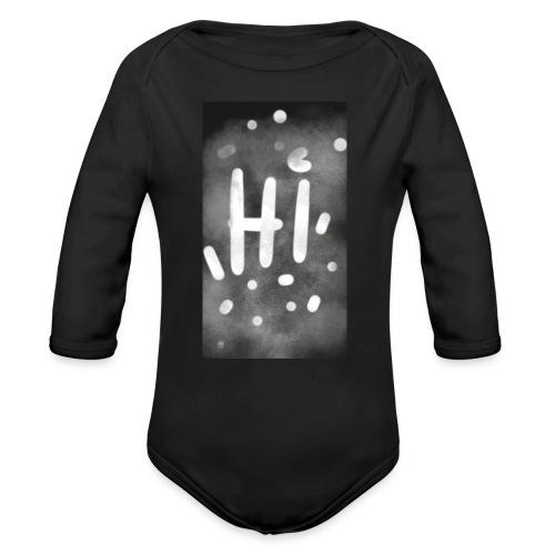 Hola o hi nublado - Body orgánico de manga larga para bebé