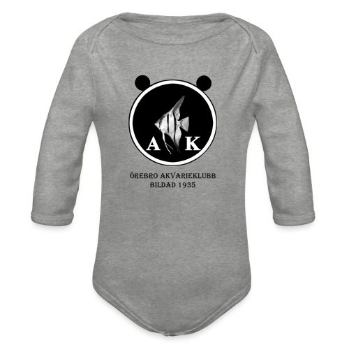 oeakloggamedsvarttext - Ekologisk långärmad babybody