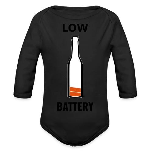 Beer Low Battery - Body Bébé bio manches longues