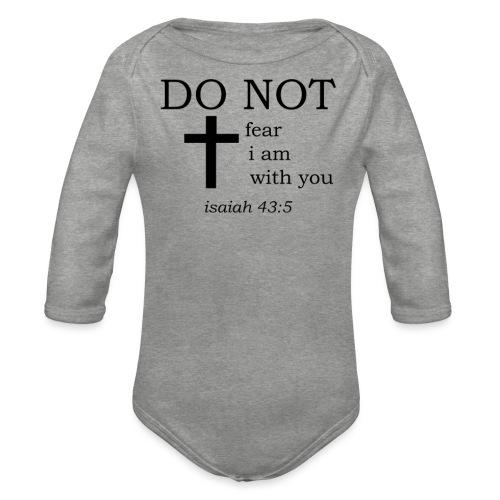 'DO NOT' t-shirt - Organic Longsleeve Baby Bodysuit
