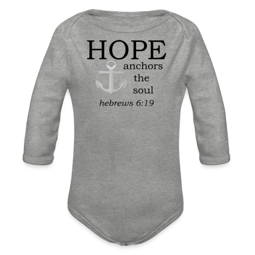'HOPE' t-shirt - Organic Longsleeve Baby Bodysuit