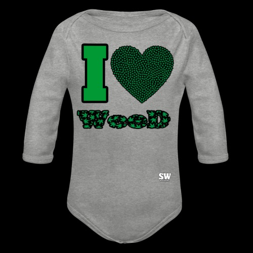I Love weed - Body Bébé bio manches longues