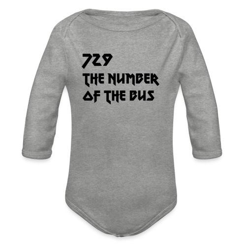 729 nero - Body ecologico per neonato a manica lunga