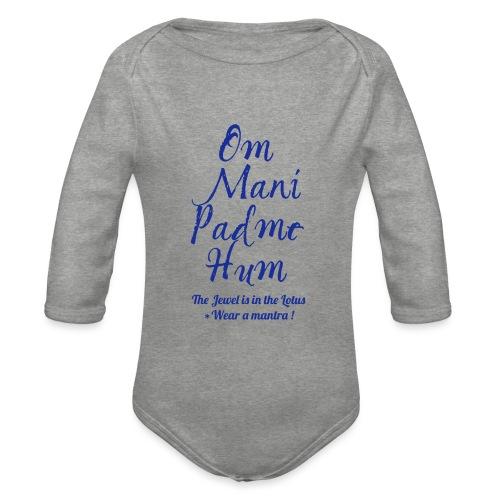 OM MANI PADME HUM - Body ecologico per neonato a manica lunga