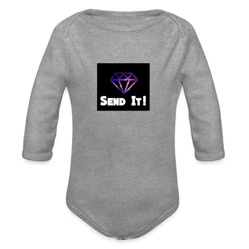 Send It Streetwear galaxy Tee - Organic Longsleeve Baby Bodysuit