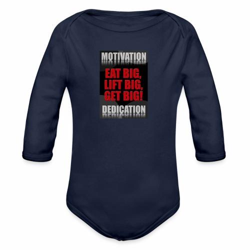 Motivation gym - Ekologisk långärmad babybody