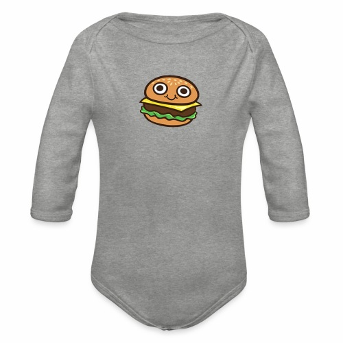 Burger Cartoon - Baby bio-rompertje met lange mouwen