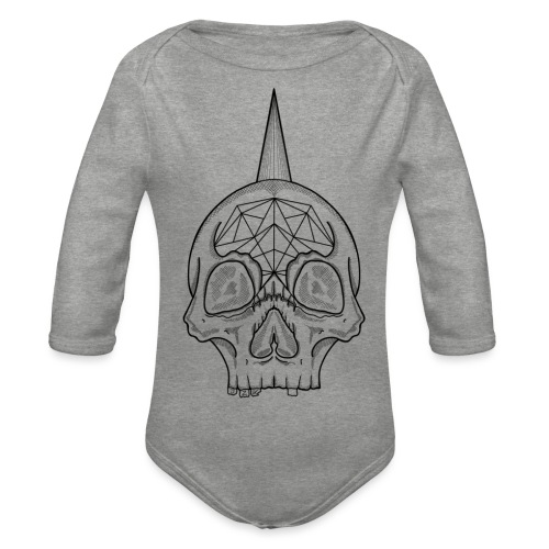 Skull head - Body Bébé bio manches longues