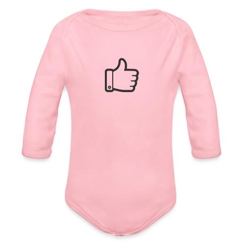 Like button - Baby bio-rompertje met lange mouwen