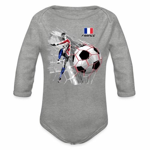 FP22F 03 FRANCE FOOTBALL - Vauvan pitkähihainen luomu-body