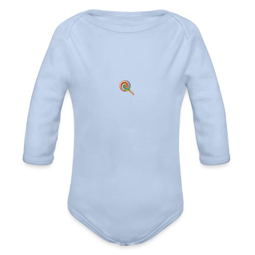 lolly_emoji - Baby bio-rompertje met lange mouwen