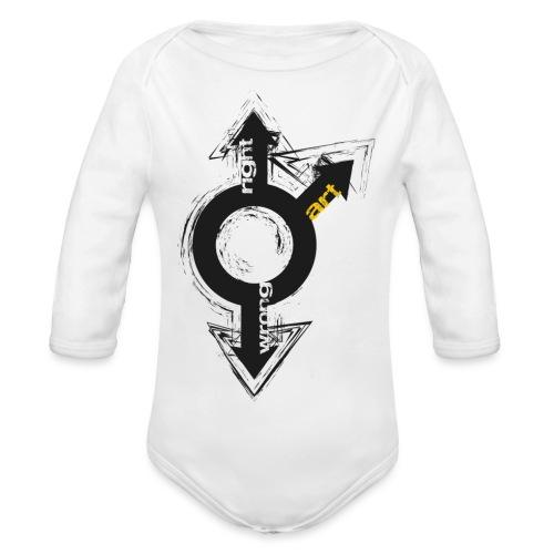 Right Wrong Art - Body ecologico per neonato a manica lunga