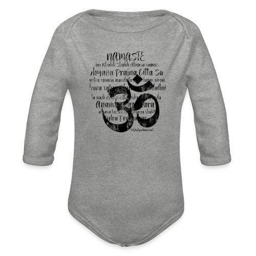 OM - Namaste black rugged - Baby Bio-Langarm-Body