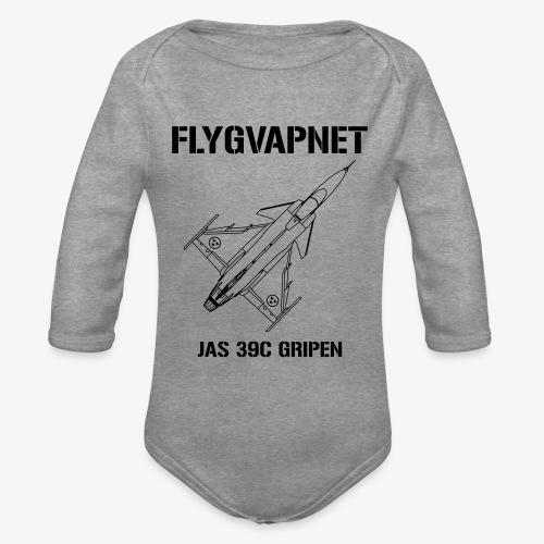 FLYGVAPNET - JAS 39C - Ekologisk långärmad babybody
