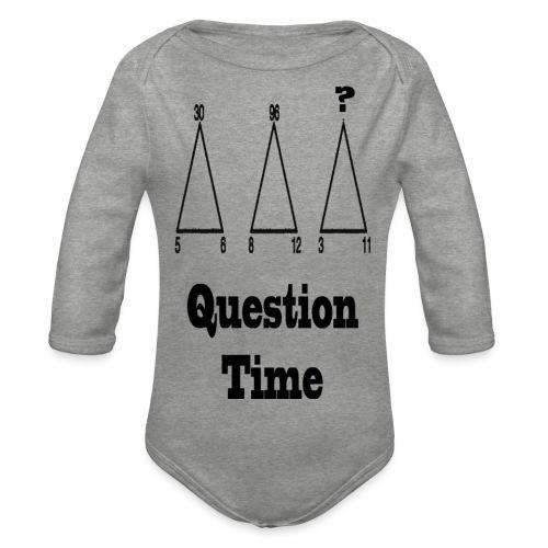 1 - Body ecologico per neonato a manica lunga