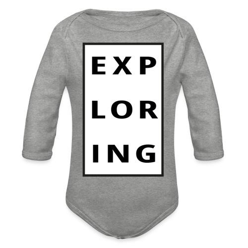 exploring - Ekologisk långärmad babybody