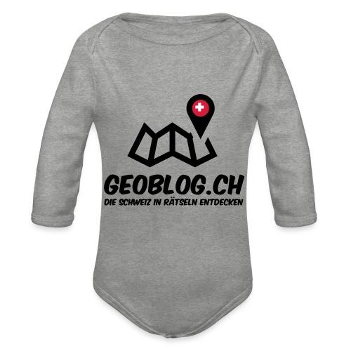 Logo+Schriftzug-hoch - Baby Bio-Langarm-Body