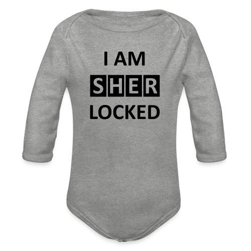 I AM SHERLOCKED - Baby Bio-Langarm-Body