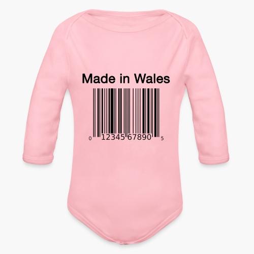 Made in Wales - Organic Longsleeve Baby Bodysuit
