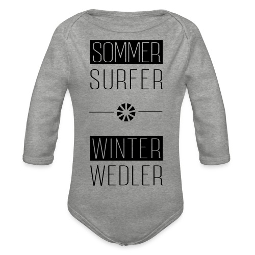 sommer surfer winter wedler - Baby Bio-Langarm-Body