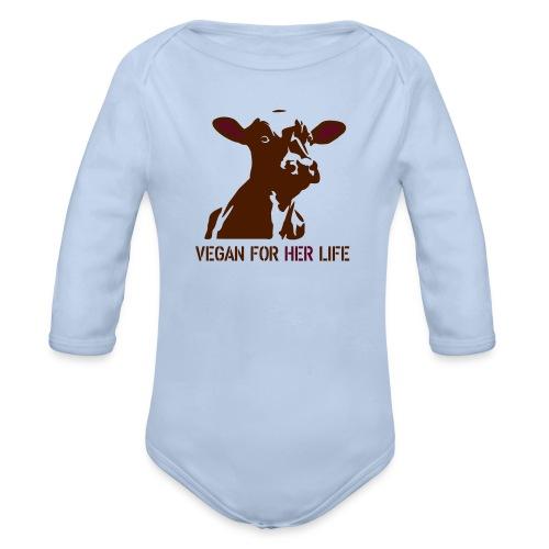 vegan for her life - Baby Bio-Langarm-Body