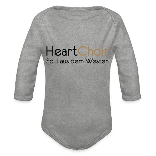 heartchoir schritzug ohne website - Baby Bio-Langarm-Body