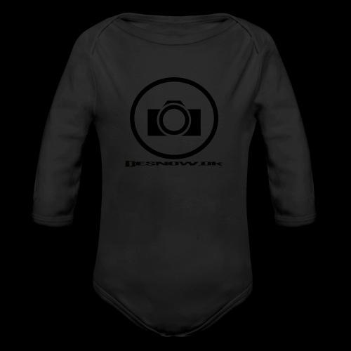 sort2 png - Langærmet babybody, økologisk bomuld