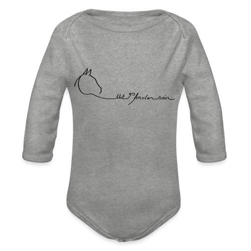 MPS Logoschriftzug gr offizieller Logoschriftzug - Baby Bio-Langarm-Body