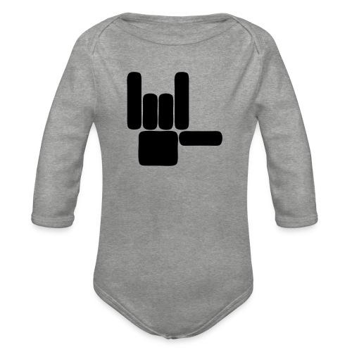 Beau Qui T'Eau boxershort - Baby bio-rompertje met lange mouwen