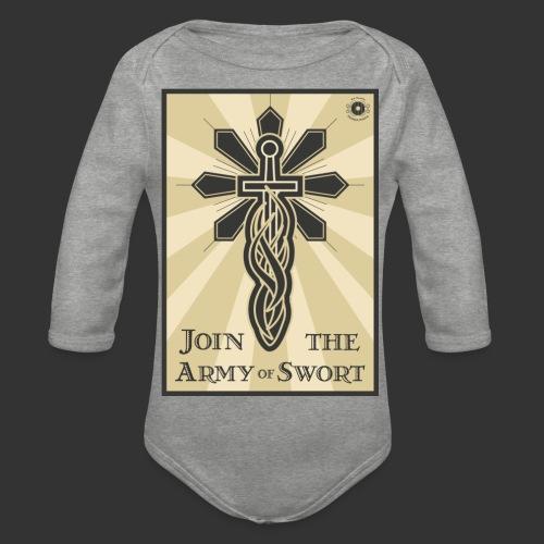 Join the Army of Swort - Organic Longsleeve Baby Bodysuit