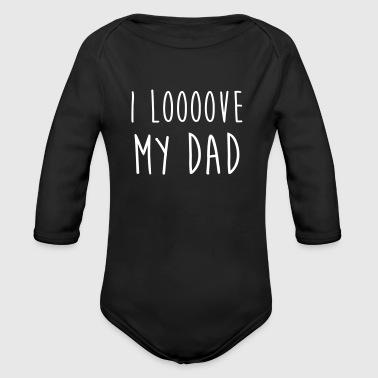 isä dad perhe hauska vauva papa isän päivä - Vauvan pitkähihainen luomu-body