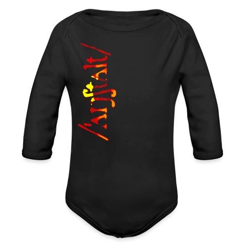 /'angstalt/ logo gerastert (flamme) - Baby Bio-Langarm-Body